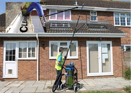 safe gutter cleaning method